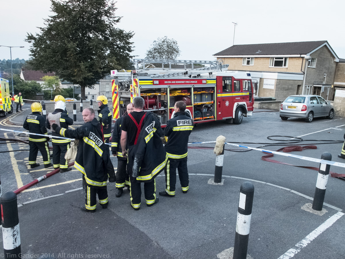 Crews start to wind-down as the incident de-escalates