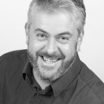 Black and white business portrait of David Evans of Ghost Ltd
